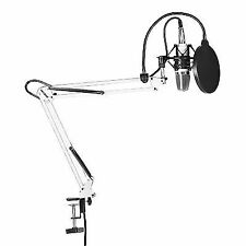 Neewer Nw-700 Condenser Microphone Kit W Arm Stand Pop Filter Shock Mount Black