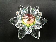 Crystal World Water Lily Rainbow Center Figurine New In Box