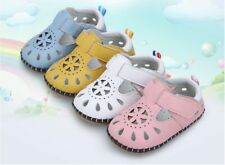 Baby Flat Leather Non-Slip Sandals Toddler Kid Girl Boy Soft Soled Infant Shoes