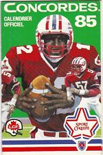 1985 MONTREAL CONCORDES CFL FOOTBALL SCHEDULE -  FRENCH