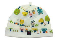 Polarn O Pyret Baby Boys Beanie Hat Organic Cotton White Kitten Cow Horse 4-6 M