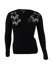 INC International Concepts Women's Plus Size Embellished Star Sweater