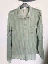 Green Strippy Shirt Size S