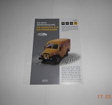 Datenblatt IFA Horch H3 A Kastenwagen DDR Kultfahrzeug Atlas