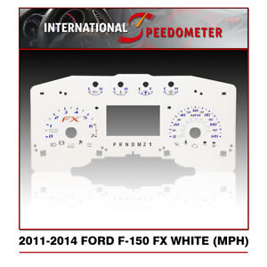 2011 - 2014 Ford F-150 FX Speedometer Color Faceplate White (MPH)