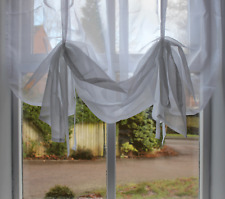 "Voile Tie Blinds 140cm (55"") Wide  ~ Slot Top Voile Panels & Net Curtains"