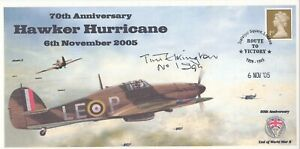70th Anniv Hawker Hurricane Signed by J F D Elkington no 1 Sqn Battle of Britain