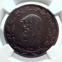 1791 ENGLAND Wales ANGLESEY Conder 1/2 Penny TOKEN Coin w DRUID NGC i81250