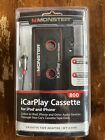 Monster Cassette Tape Adapter 3ft iCarPlay 800 for iPod iPhone Factory Sealed!!