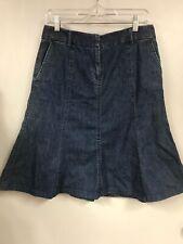LL Bean Womens Size 6 Denim A-line Flare Skirt Jean 5 panel