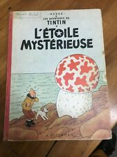 HERGE TINTIN  L'Étoile Mystèrieuse  B27B DE 01/1960  BON ETAT
