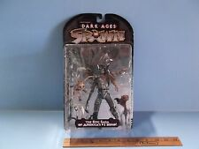 """#02 Spawn The Dark Ages The Spellcaster 7""""in Figure Brown Skull Cap Variant HTF"""