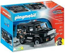 New Playmobil 5674 City Action Tactical Police Unit Car with 2 Figures SEALED