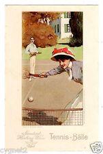 POSTCARD AUSTRIAN ADVERTISING HARBURG-WIEN TENNIS BALLS