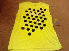 new boys sz lg tek gear soccer  athletic  tank top yellow  nwt