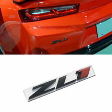 BLACK & Red ZL1 trunk Badge Emblem Rear Hood Nameplate Sticker For Chevy