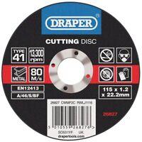 Genuino Draper Plano Discos de Corte para Metal (115 x 1.2 x 22.2mm) 26827