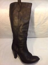 Next Black Knee High Leather Boots Size 7