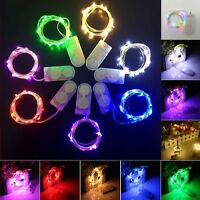 10LED BATTERY OPERATED MICRO SILVER WIRE STRING FAIRY PARTY XMAS WEDDING