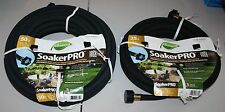 Pair of ELEMENT SoakerPRO Outdoor/Flexible/Garden/Irrigation hoses 50 ft & 25 ft