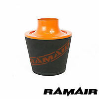 Ramair 70Mm Od Neck Orange Large Aluminium Induction Air Filter