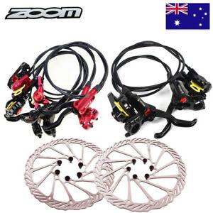 ZOOM MTB Bike Hydraulic Disc Brakes Calipers 160/180mm 6 Bolts Disc Brake Rotor