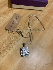 Lori Bonn Sterling Silver Pendant Necklace Love Letter Initial K Monogram NEW