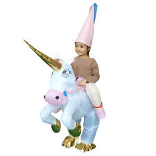Inflatable Costume Animal Unicorn Suit with Hat Children Cosplay Fancy Dress