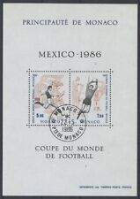 MONACO bloc 35 - COUPE DU MONDE DE FOOTBALL de 1986 ** OBLITERE 1er JOUR