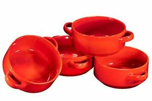 19oz Ceramic Soup Bowls with Handles - Oven Safe Bowls for French Onion Soup ...