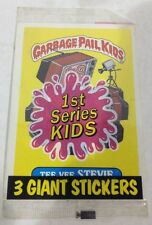 1986 TOPPS 1ST SERIES GARBAGE PAIL KIDS WITH 3 GIANT STICKERS FACTORY SEALED