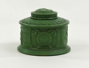ROSEVILLE POTTERY RARE ROZANE EGYPTO INKWELL WITH LID AND WAFER