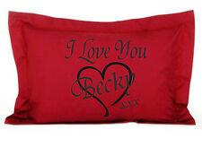 Personalizzato I Love You Rosso Oxford Federa 4 Loved Ones San Valentino
