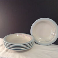 Noritake Stoneware Made In Japan Rainbow End 8405 Set of 6 Rimmed Soup Bowl