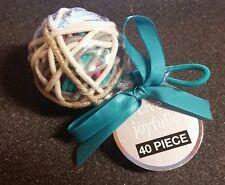 Live Joyfully 40 Piece Elastic Hair Ties *NIP* Teal/White/Gold/Gray/Pink