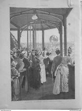 1889 IV10 TOUR EIFFEL LANCEMENT BALLONS EXPOSITION UNIVERSELLE PANORAMA PARIS