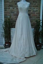 New YOURS TRULY  Designer Wedding Dress UK 12-14 Gold RRP £750+