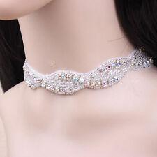 Luxury Bridal Diamante Shiny Wedding Decoration Collar Choker Necklace N372