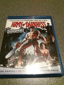 Army Of Darkness Blu Ray Screw Head Edition Region A Rare Horror