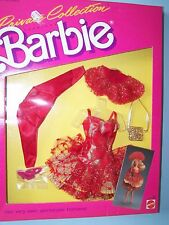 #4510 BARBIE PRIVATE COLLECTION FASHION  (c)1987 - Red lace & gold glitter set