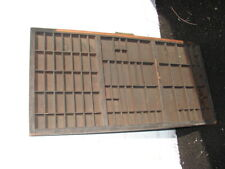 Vintage Wooden Printers Type Drawer Tray Wall Display Rack Letterpress Old - # 2