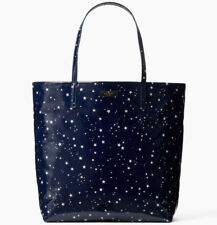 NWT Kate Spade Bon Shopper Daycation Night Sky PVC Tote WKRU5554 Retail $148