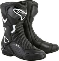 Alpinestars Stella SMX-6 V2 Vented Boots - Black/White - Size 39