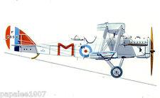"""Model Airplane Plans (FF): de Havilland DH-9A 1/11 scale 50"""" for 1-1.5cc"""