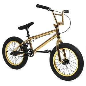 "Elite 16"" BMX Pee Wee Bicycle Freestyle Bike 1 Piece Crank Gold NEW"