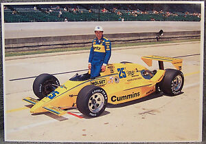 POST CARD ~ 1987 INDIANAPOLIS 500 ~ WINNER ~ AL UNSER
