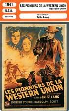 FICHE CINEMA : LES PIONNIERS DE LA WESTERN U. - Young,Scott,Jagger,Lang 1941