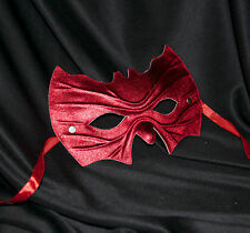 Red Bat Shape Mask Super Hero Fancy Dress Masquerade Man Halloween Fancy Dress