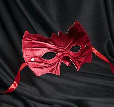 Red Bat Shape Mask Super Hero Fancy Dress Masquerade Man Halloween Fancy Dress