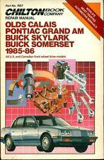 1985 1986 OLDS CALAIS PONTIAC GRAND AM BUICK SKYLARK SOMERSET REPAIR MANUAL